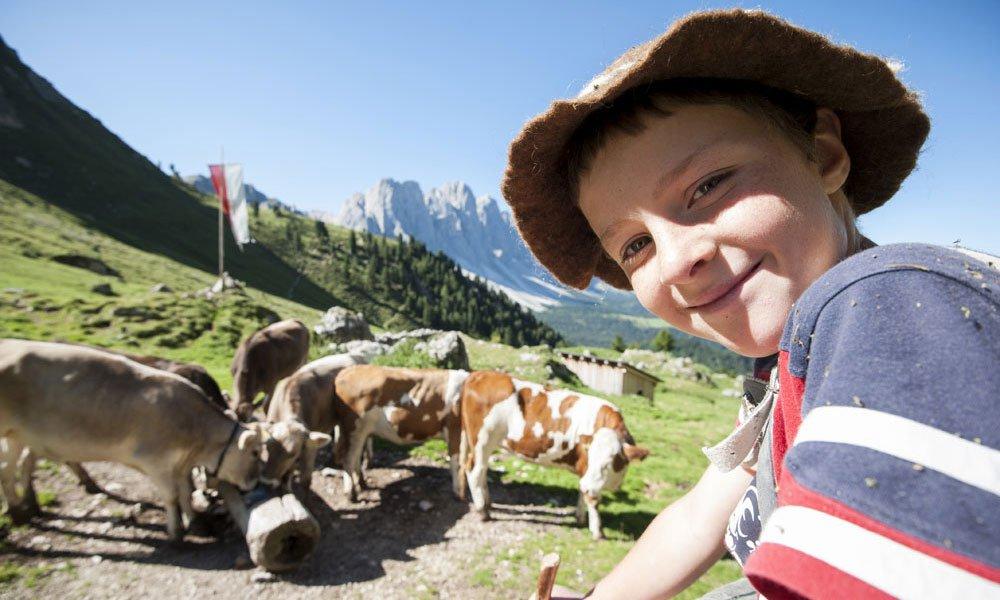 Urlaub auf dem Bauernhof mit Kindern in Villnöss
