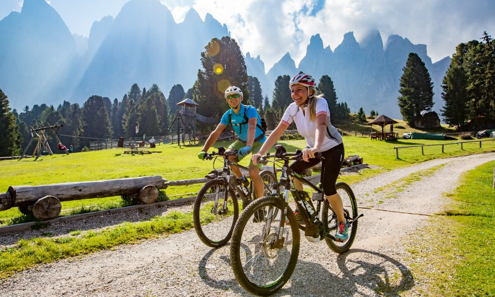 Mountain bike holiday in the Dolomites
