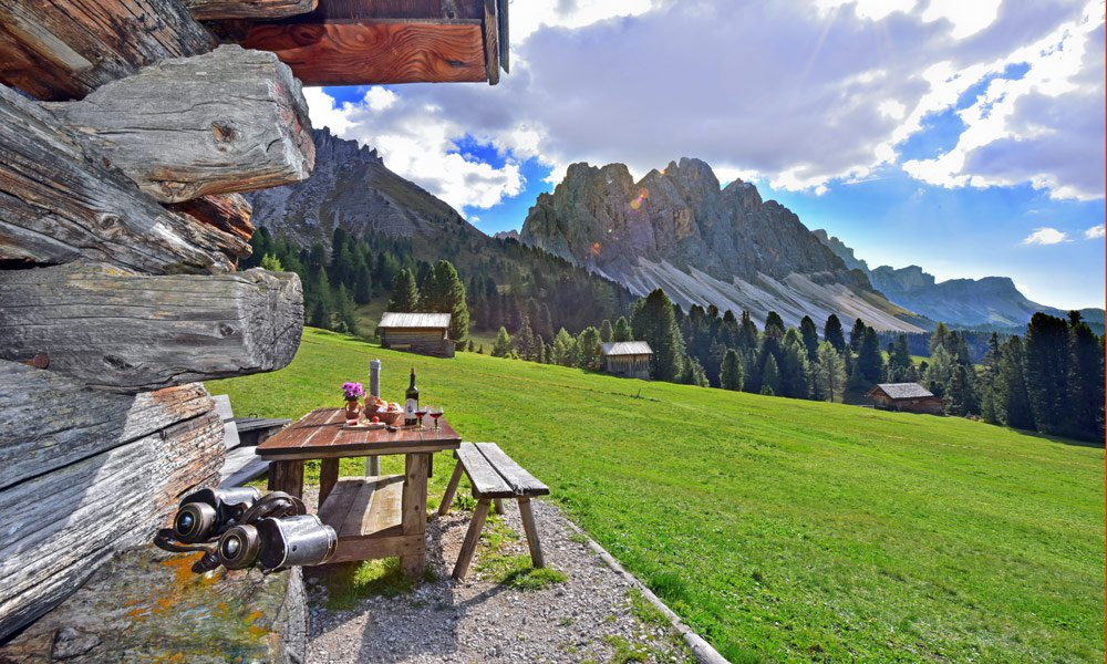 Alpine holiday: clear mountain air and sublime silence