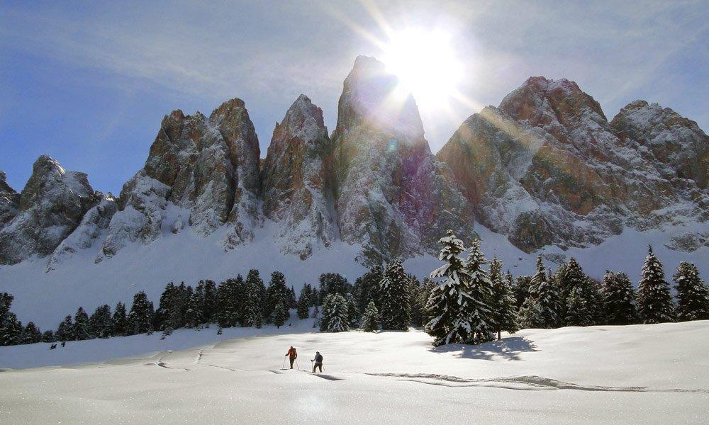 Schneeschuhwandern und Skitouren in Villnöss